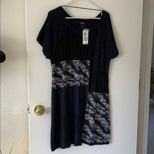 New Black and Navy sweater tunic